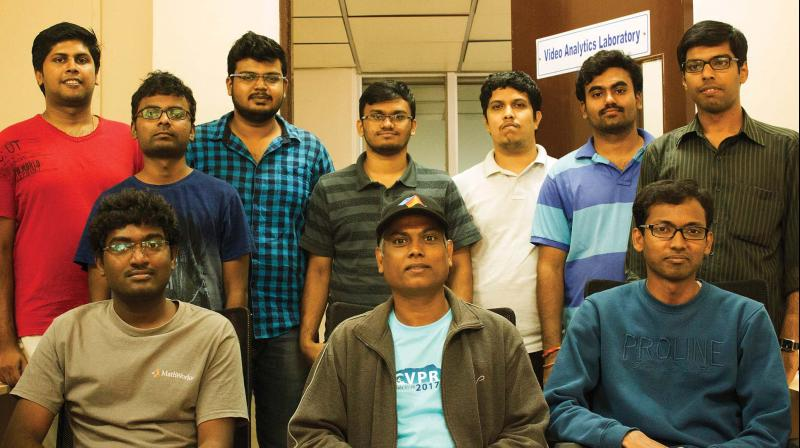 Prof. Venkatesh Babu along with his team from the Department of Computation and Data Sciences, Indian Institute of Sciences, Bengaluru.
