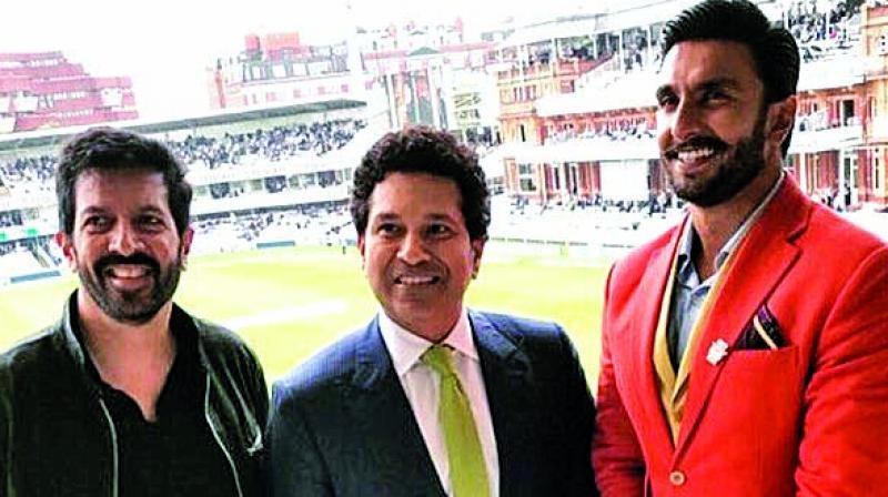 Photo of Kabir Khan, Sachin Tendulkar and Ranveer Singh shared by the cricketer