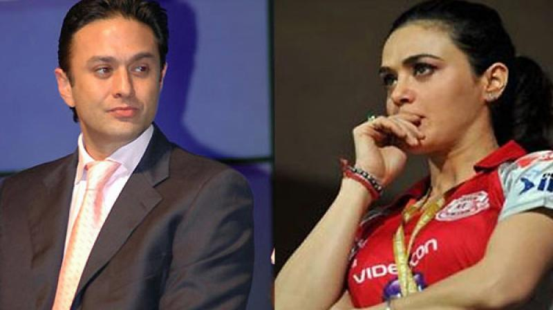 Preity Zinta and Ness Wadia are co-owners of the Kings XI Punjab IPL team. (Photo: File)
