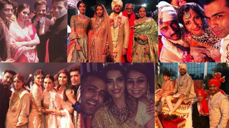 Numerous Bollywood stars were present in Waldorf Astoria Ras al Khaimah, UAE on Tuesday for wedding of actor Mohit Marwah. (Photos: Instagram)