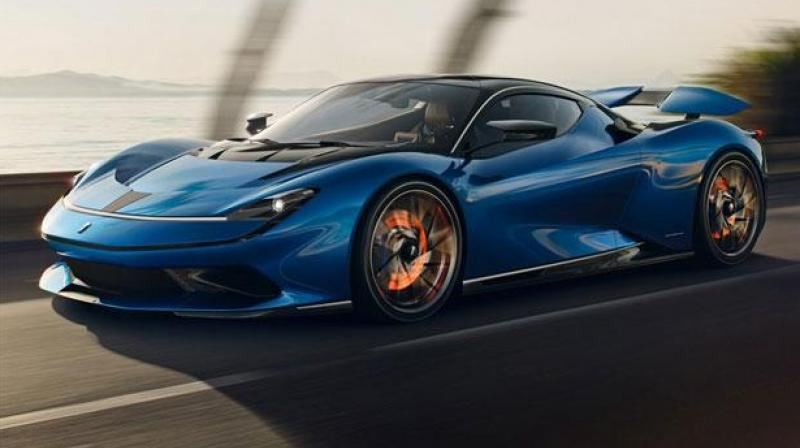 According to Automobili Pininfarina, Battista has the potential to accelerate to 62 mph in less than two seconds, faster than a Formula 1 car. (Photo: Twitter)
