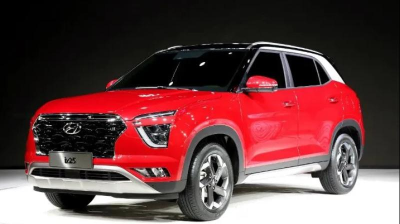Next-gen SUV borrows design cues from the flagship Palisade. India-spec SUV is likely to spawn a 7-seater version as well.