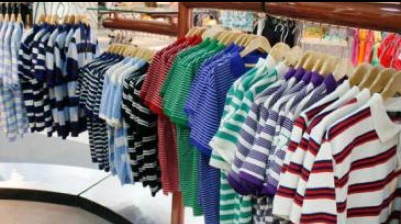 Flat growth of clothing and clothing accessories in the US for the past eight months and the demand slowdown in the European Union are matters of concern for Indian apparel exporters. (Representational Image)