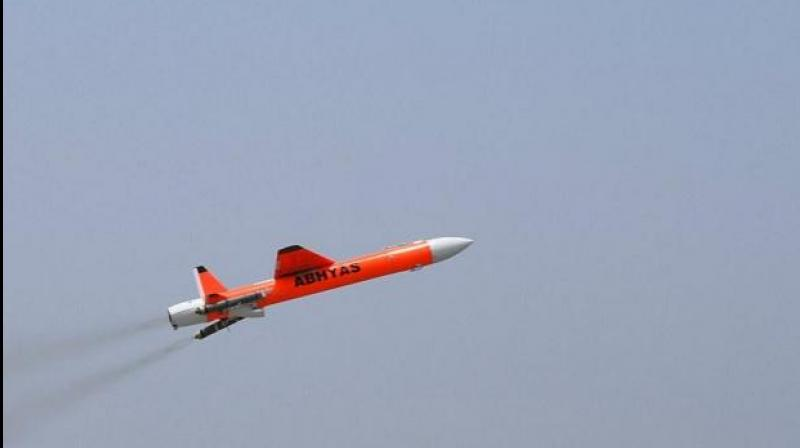 DRDO conducted successful test flight of ABHYAS on Monday, May 13. (Photo credit: DRDO | Twitter)