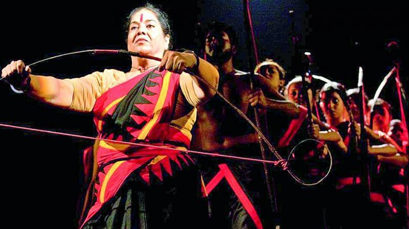 Scene from Usha Ganguly's play Chandalika