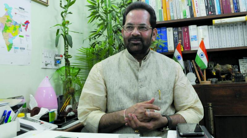 Mukhtar Abbas Naqvi, senior BJP leader and Union minister for minority affairs