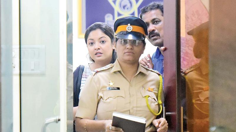 Tanushree at the police station. (Photo: Mrugesh Bandiwadekar)