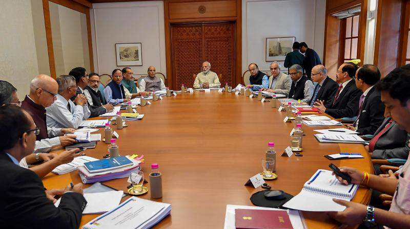 File photo of prime minister Narendra Modi chairing a meeting of the National Disaster Management Authority in New Delhi  in 2018. (PIB)