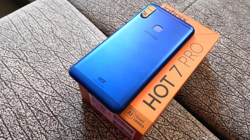 The Infinix Hot 7 Pro is priced at Rs 9,999 and it's selling itself as a budget device.