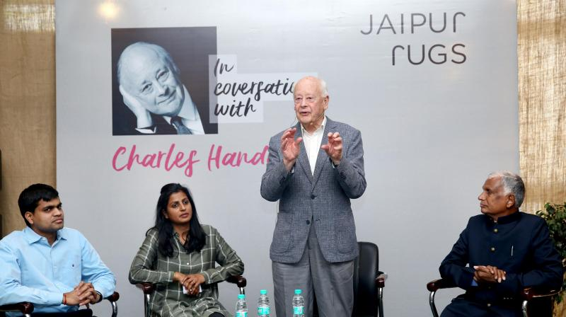 •Charles Handy addressed nearly 100 industry leaders from EO (Entrepreneurs' Organisation) and YPO.