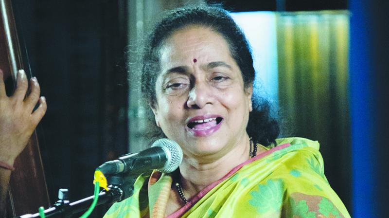 Vidushi Shruti Sadolikar. (Photo: Bharat Tiwari)
