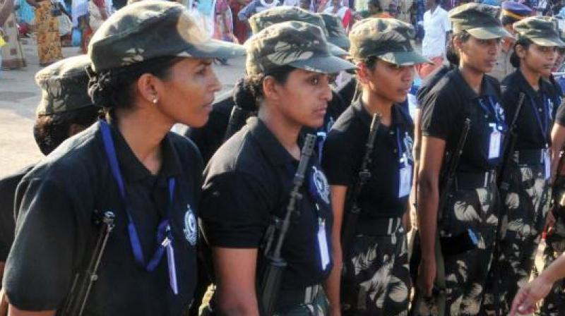 On August 10, the 36 women commandos of the Delhi Police's Special Weapons And Tactics (Swat) unit, were formally inducted and also displayed their blue-coloured uniforms.(Representational image)