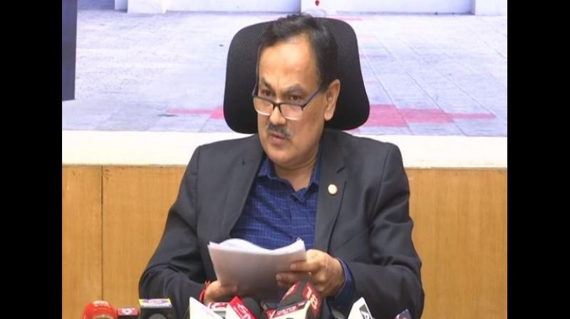 According to Kumar, more than 37 lakh 50 thousand voters will decide the fate of candidates in the upcoming by-polls, including 19.12 lakh male voters and 18.37 lakh female voters while 399 come under the others category. (Photo: ANI)