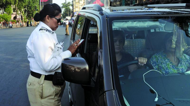 Till the month of April 2017, the Mumba Traffic police had issued e-challans to 16.34 lakh violators, while only 4.82 lakh violators paid the e-challans.