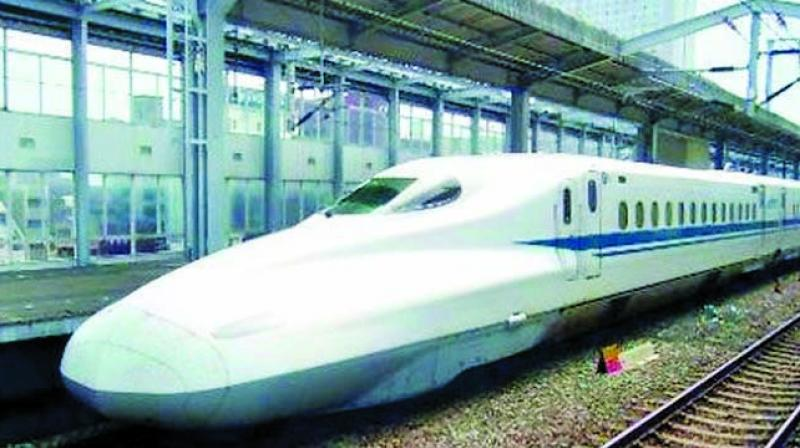 A file picture of a bullet train.