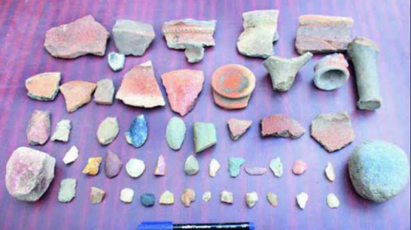 Recently, the university researchers discovered items from the 4,500-year-old civilisation on the shores of Chilika lake.