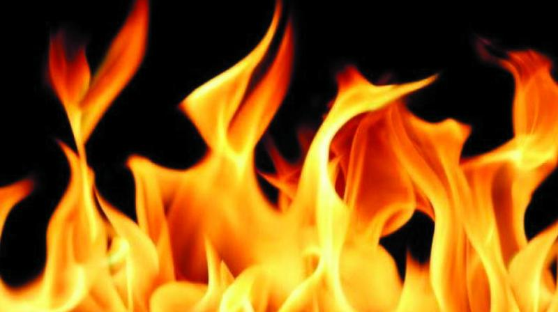 The woman has suffered 90 per cent burn injuries.