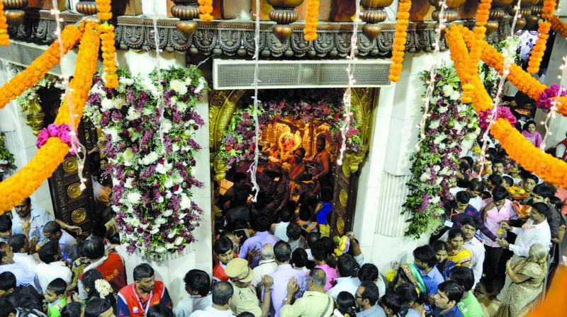 Around 30,000 devotees visit Siddhivinayak every day.