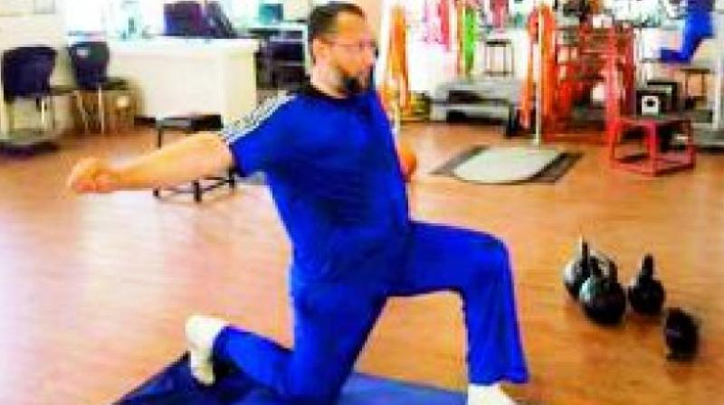 Asaduddin Owaisi sweats it out at the gym regularly, and says that he never compromises with his fitness regime.