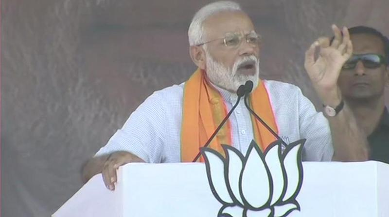Prime Minister Narendra Modi on Thursday made a pitch for a strong government at the Centre and mocked the 'helpless' dispensation of Chief Minister H D Kumaraswamy, who is heading the Congress-JD(S) coalition. (Photo: Twitter/ ANI)