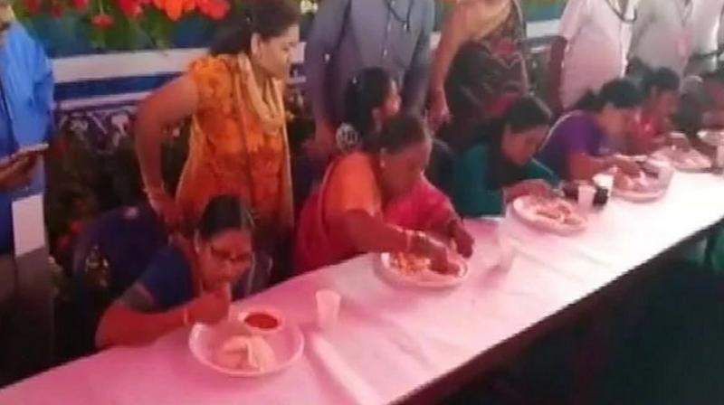 Sarojamma ate 6 idlis in just 1 minute with great ease and won the competition. (Photo: ANI)