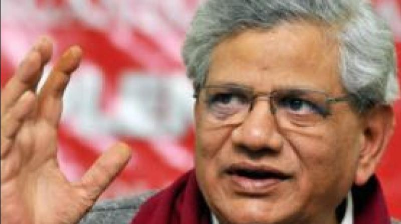 'The CPI(M) is discussing with other opposition parties the possibility of bringing an impeachment motion against the CJI,' Yechury told reporters at the Left party's headquarters in New Delhi. (Photo: PTI)