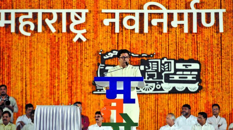 MNS chief Raj Thackeray addresed a rally at Shivaji Park, Dadar (west) on Sunday. ( Photo: Asian Age)