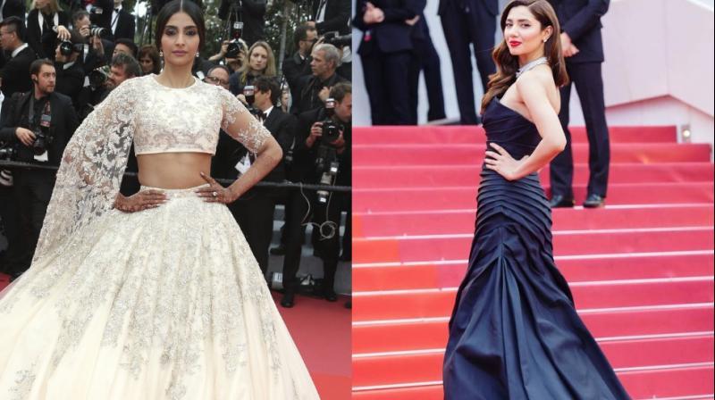 Sonam Kapoor and Mahira Khan at Cannes 2018. (Photo: AP/ Instagram)