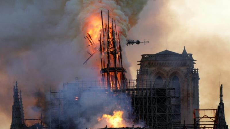 President Emmanuel Macron has set an ambitious target of five years for restoring Notre-Dame, which was gutted by a fire on April 15 that felled its steeple and consumed the lattice of beams supporting the roof. (Photo: File)