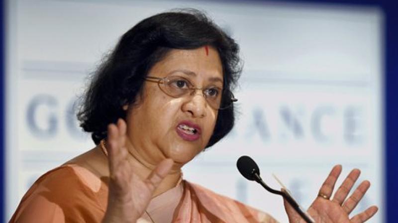 Former SBI chairperson Arundhati Bhattacharya.