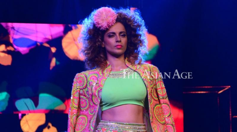 Kangana Ranaut walked the ramp for fashion desinger Manish Arora's collection at a fashion show on Saturday. (Photo: Viral Bhayani)