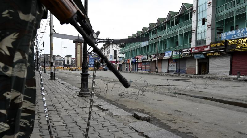 Against the backdrop of increased activity by militants, the authorities have imposed stringent restrictions on movement in parts of Srinagar to curtail planned Muharram processions. DC Photo: H U Naqash