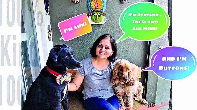 Dr Jyotsna Mirlay, a gynaecologist with her pet dogs for the Spay it forward campaign.