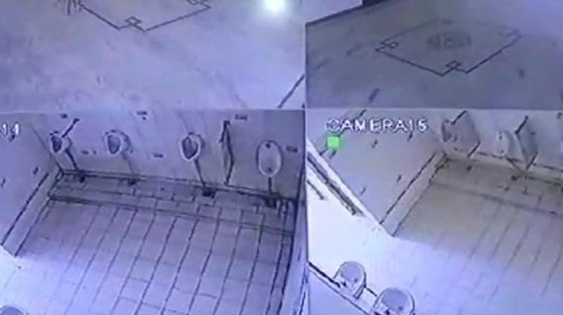 While the students have called the move as the invasion of their privacy, the college administration, on the other hand, maintain that the cameras have been placed to keep a check on the incidents of using washrooms for cheating in the examinations. (Photo: ANI)