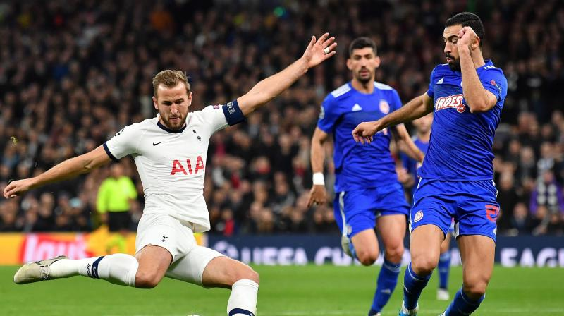 Tottenham Hotspur striker Harry Kane on Tuesday (local time) became the fastest player to score twenty Champions League goals. (Photo:AFP)