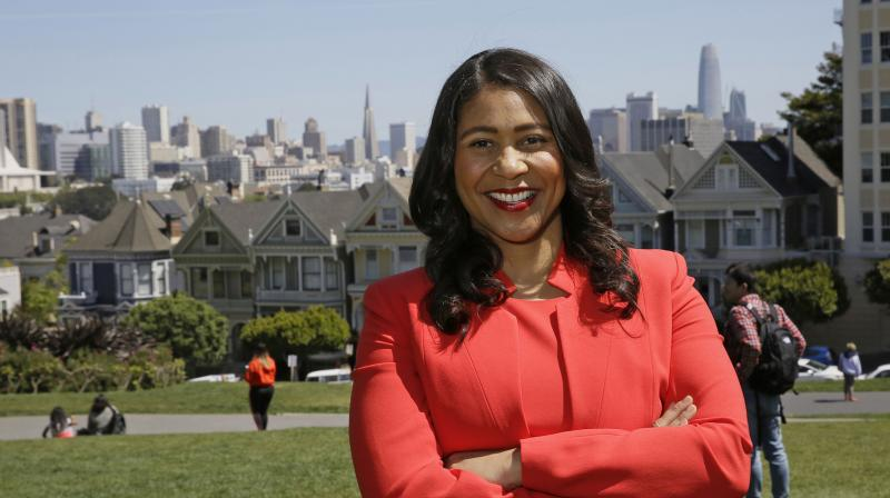In this file photo taken April 13, 2018, then San Francisco mayoral candidate and Board of Supervisors President London Breed poses for a photo at Alamo Square in San Francisco.(Photo: AP)