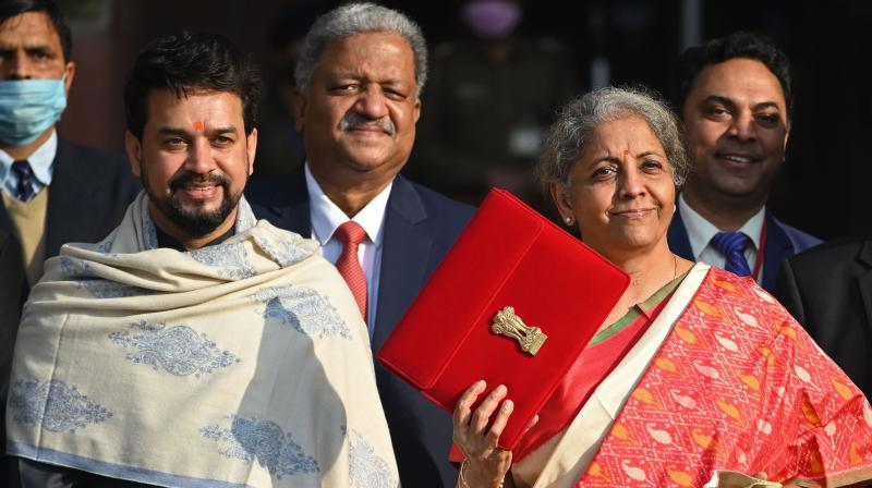 President Ram Nath Kovind with Uniond Finance Minister Nirmala Sitharaman, (Image source: PTI)