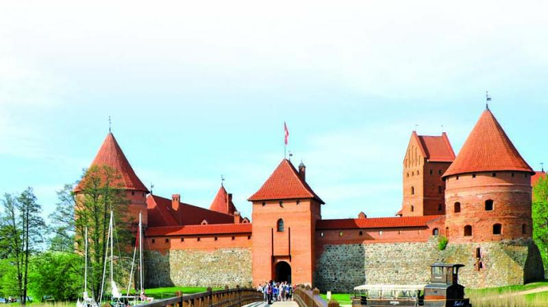 The island Castle of Trakai, the only one of its kind in all of  Eastern Europe is a major draw to many tourists.