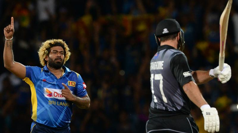 36-year-old Lasith Malinga scalped the wicket of Colin de Grandhomme in the 14th over of the Kiwi innings to achieve the feat. (Photo:AFP)