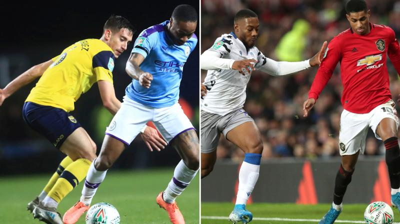 Manchester United were frustrated for 51 minutes at Old Trafford by fourth-tier Colchester United but England striker Marcus Rashford broke the resistance. Raheem Sterling restored City's lead in the 50th minute, touching in Angelino's cross, but Oxford took charge for a 20-minute spell in which they outplayed their illustrious guests. (Photo:AP)