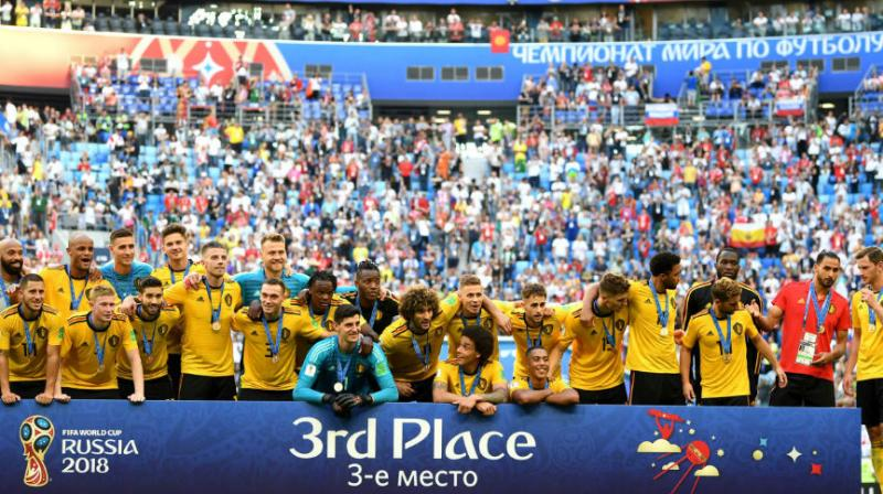 Belgium were crowned FIFA's Team of the Year for the second straight time after retaining top spot ahead of world champions France in the latest world rankings released on Thursday, soccer's world governing body said. (Photo:Fifa/Twitter)
