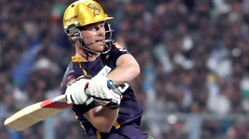 After bagging Eoin Morgan for INR 5.25 crore, Kolkata Knight Riders' (KKR) coach Brendon McCullum on Thursday said that the England limited-overs skipper will serve as the perfect foil for Dinesh Karthik. (Photo:AFP)