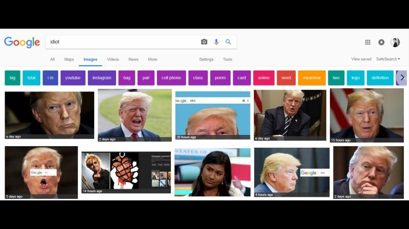 The trend kickstarted as Reddit users upvoted a post which contained a picture of Donald Trump and 'Idiot', The Guardian reported this week. (Photo: File/Screengrab)