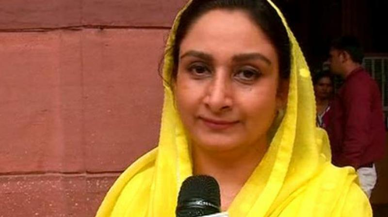 Later, talking to reporters outside Parliament about the event that unfolded in the House, Harsimrat Kaur Badal accused Rahul Gandhi of resorting to 'dramebaazi'. (Photo: ANI)
