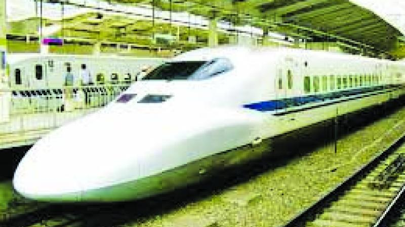 The railways is contemplating opening a shorter 50-km section of bullet train route in August 2022, which was the deadline for making the entire 508-km high speed corridor operational, sources said here indicating that the bullet train project is running behind schedule.