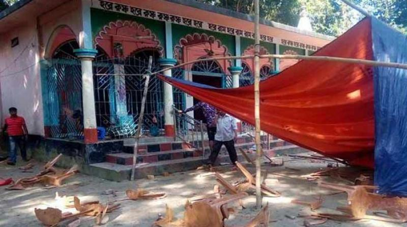 A Hindu temple was vandalised and three idols of deities were destroyed by some unknown people in Bangladesh. (Photo: AFP/Representational)