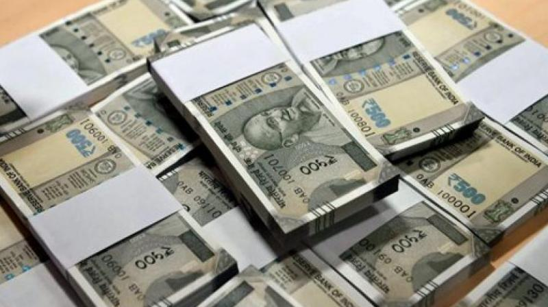 The newly-issued Rs 500 notes.