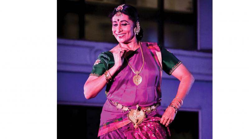 Kuchipudi exponent Vyjayanthi Kashi performing during Ekam art festival.