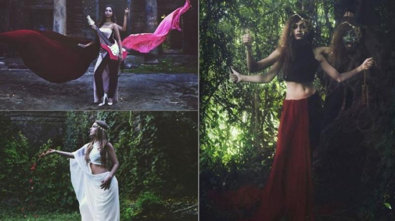 The photo series titled 'Lost Indian Goddesses was shot by Victoria Krudysheva in collaboration with designer Paarul Bhargava (Photo: Facebook/Victoria Krudysheva)