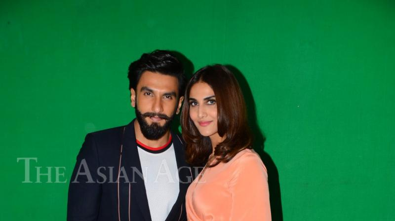 Ranveer and Vaani were glamour personified while promoting their upcoming film, Befikre'..(Photo: Viral Bhayani)